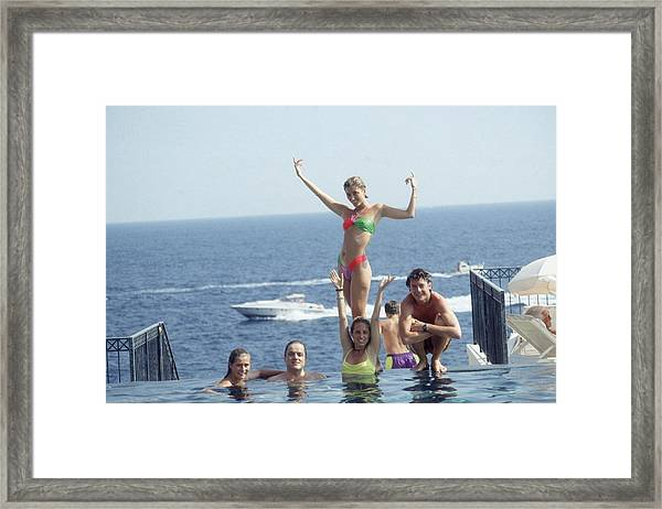 Posing At Cap Ferrat Framed Print