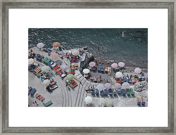 Positano Beach Framed Print