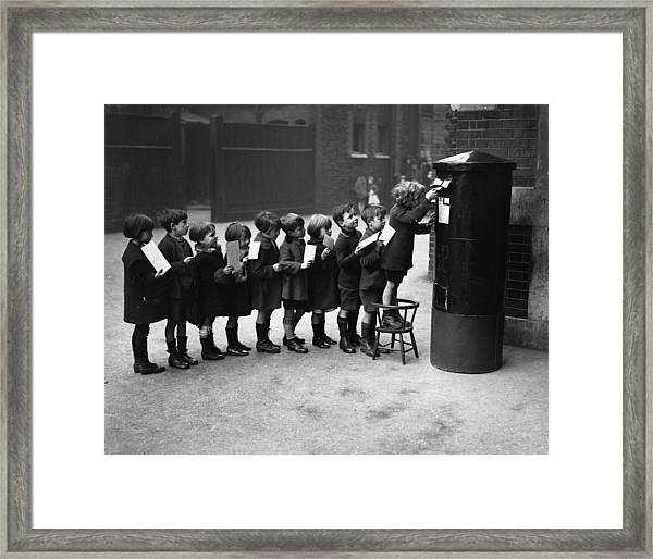 Post Queue Framed Print