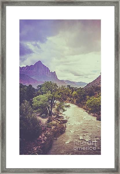 Postcard Image Framed Print
