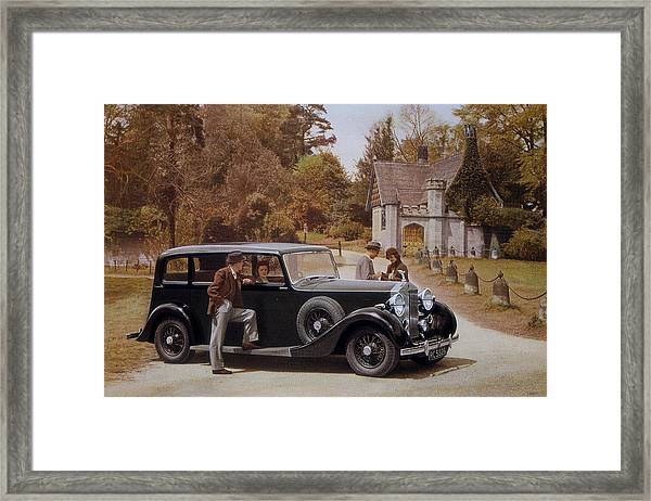 Poster Advertising Rolls-royce Cars Framed Print