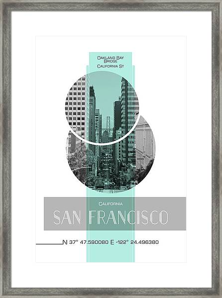 Poster Art San Francisco California Street Framed Print by Melanie Viola