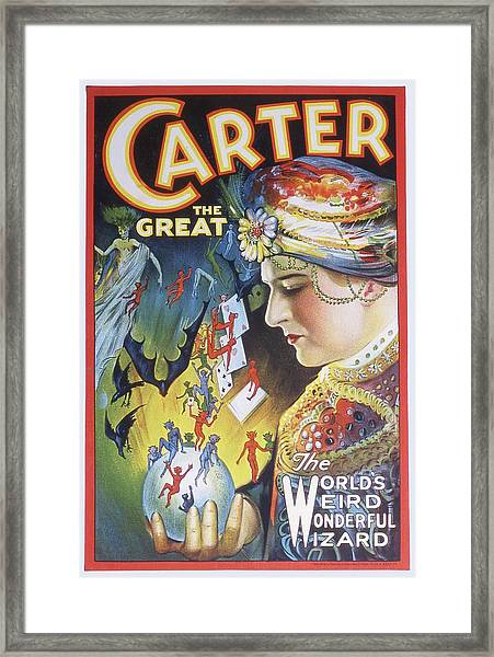 Poster For Carter The Great Framed Print