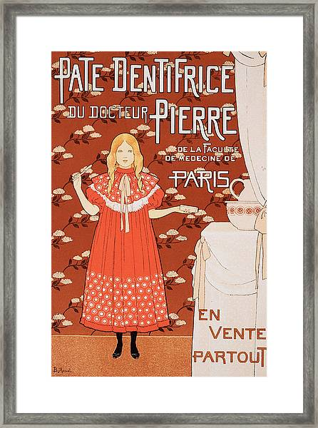 Poster For Pate Dentifrice Du Docteur Framed Print