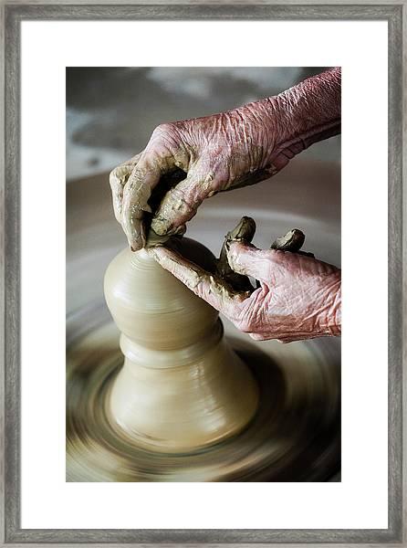 Pottery Wheel Framed Print