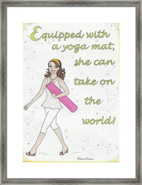 Power Of Yoga Mat Framed Print