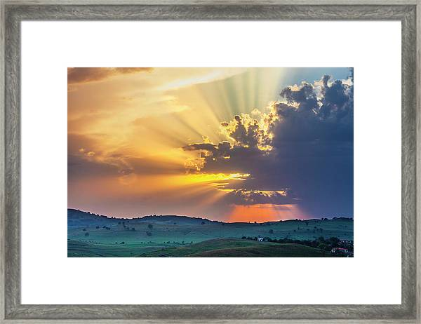 Powerful Sunbeams Framed Print