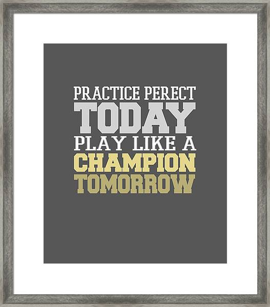 Practice Perfect Framed Print
