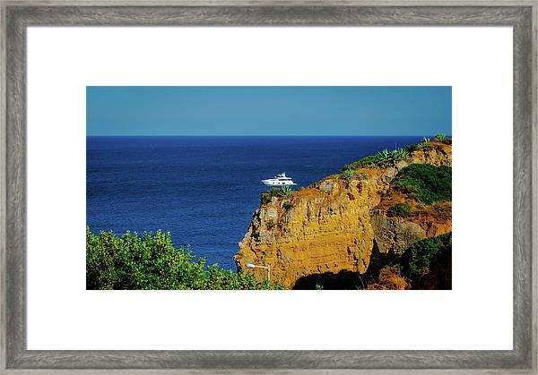 Praia Dona Ana Framed Print