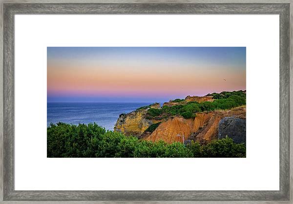 Praia Dona Ana II Framed Print