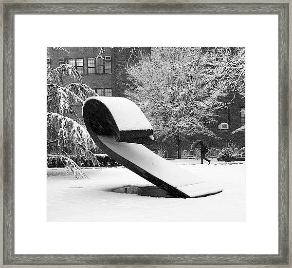 Pratt Institute Sculpture Park Framed Print