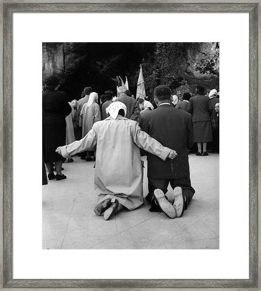 Pray And Hope Framed Print