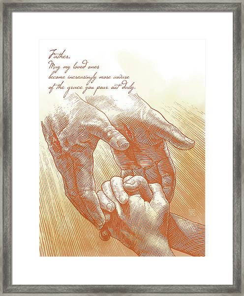 Framed Print featuring the drawing Prayer by Clint Hansen