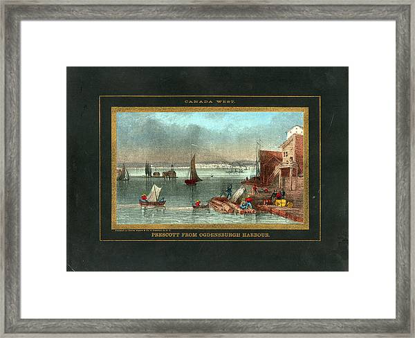Prescott 1850 To 1899 View From Framed Print