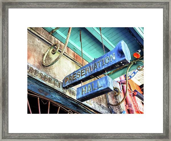Preservation Hall In New Orleans Framed Print by John Rizzuto