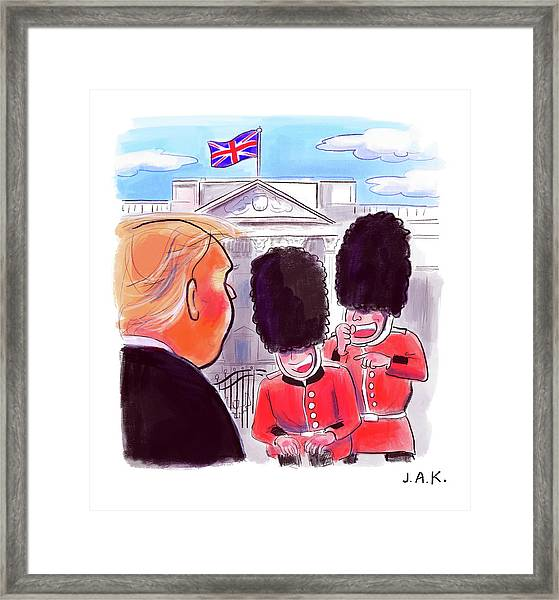 Presidential Visit To The Uk Framed Print