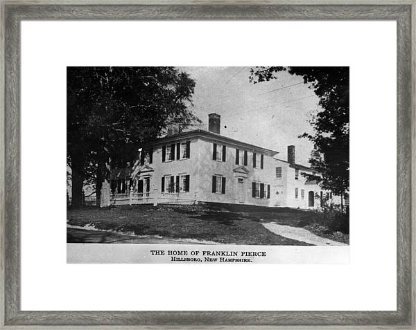 Presidents House Framed Print by Hulton Archive