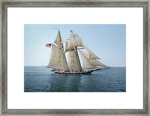 Pride Of Baltimore Sailing On The Framed Print