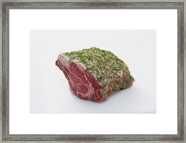 Prime Rib Of Beef Framed Print