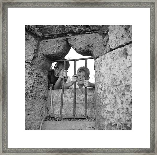 Prison Bars Framed Print