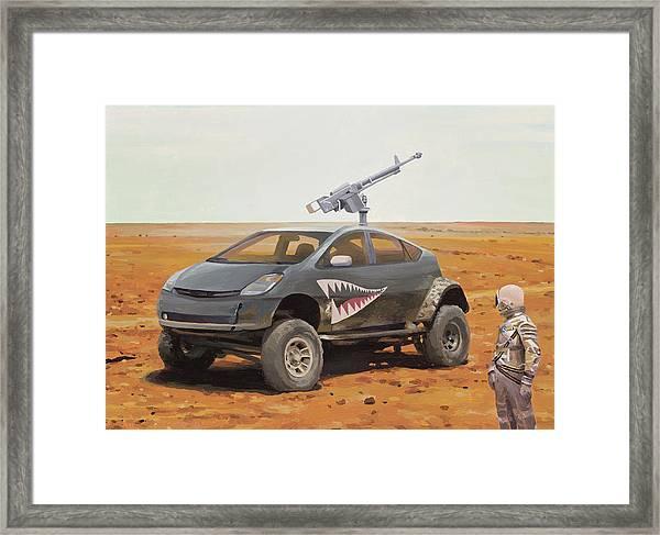 Prius Road Machine Framed Print
