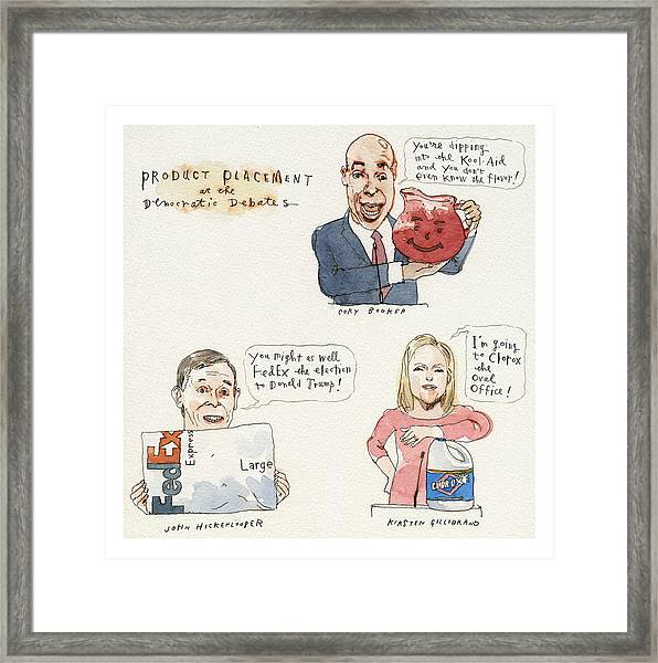 Product Placement Framed Print by Barry Blitt