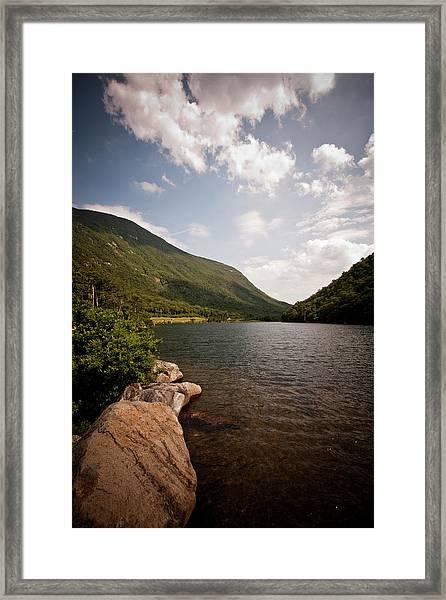 Profile Lake Framed Print by Gregor Hofbauer