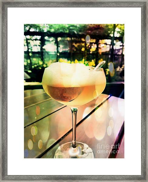Framed Print featuring the photograph Prosecco Float by Rachel Maynard