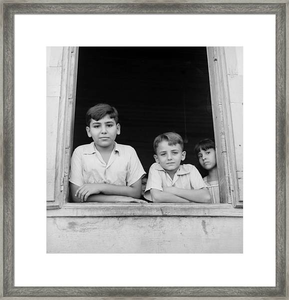 Puerto Rican Children Framed Print