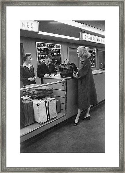 Pulitzer Checks In Framed Print
