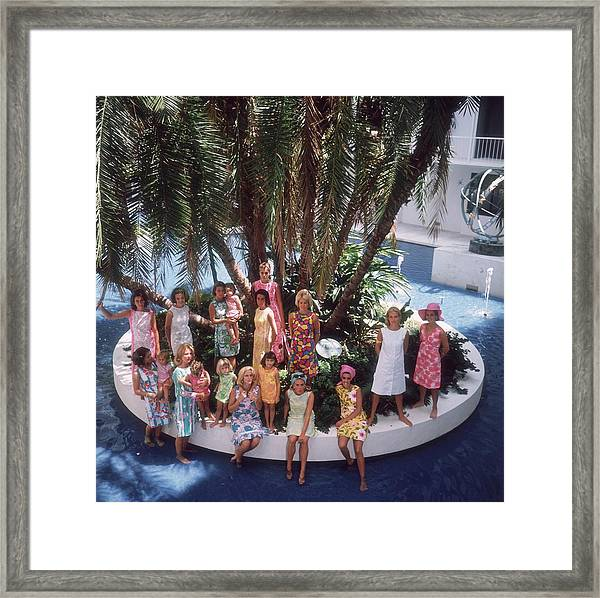 Pulitzer Fashions Framed Print by Slim Aarons