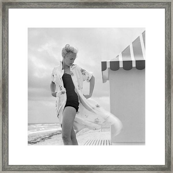 Pulitzer On The Beach Framed Print