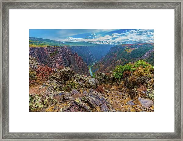 Pulpit Rock Overlook Framed Print