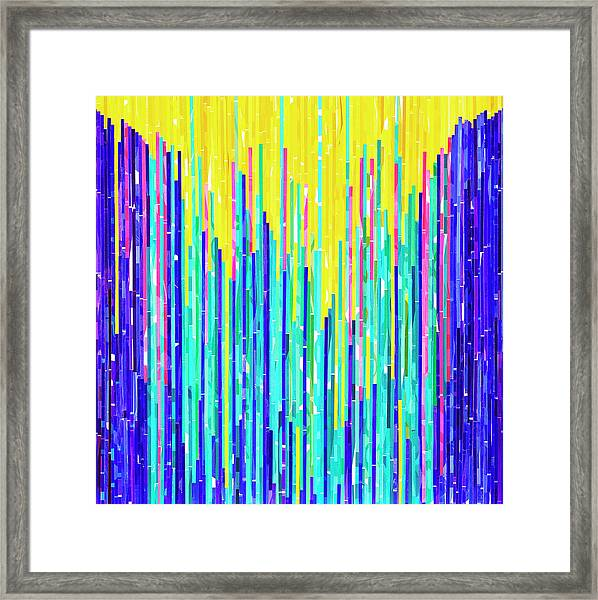 Pulsating Possibilities Framed Print by Color Bliss