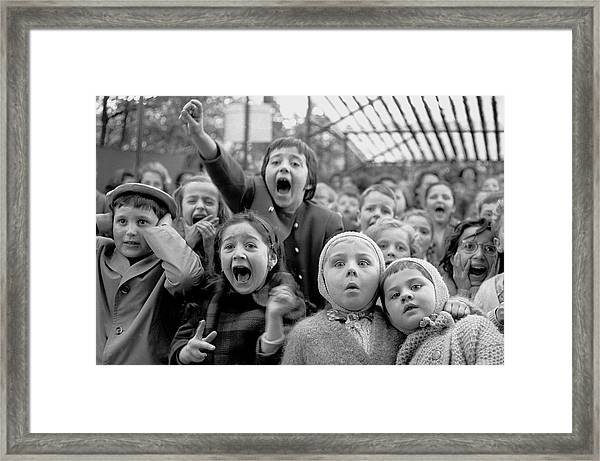 Puppet Audience Framed Print by Alfred Eisenstaedt