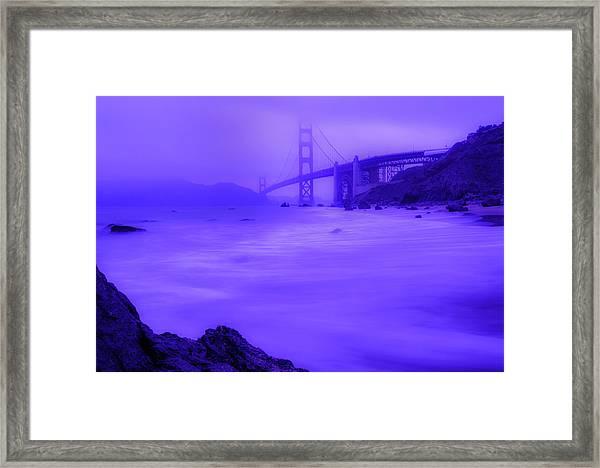 Purple Golden Gate Fog Framed Print