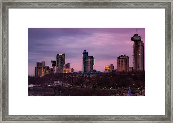 Purple Haze Skyline Framed Print