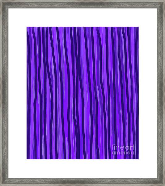 Purple Lines Framed Print