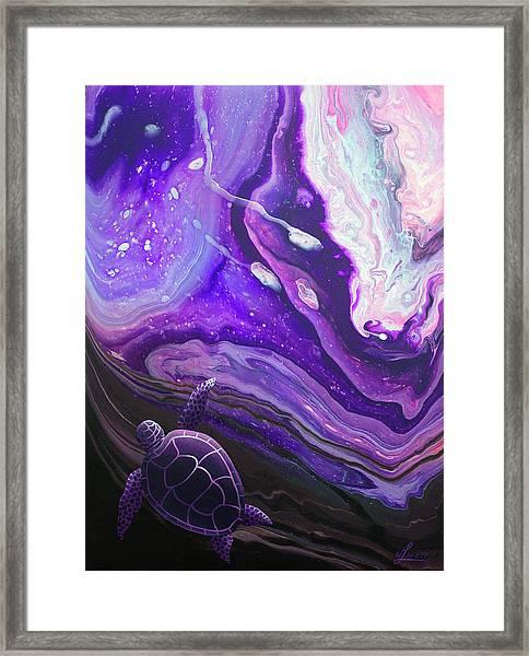 Purple Munchkin Framed Print