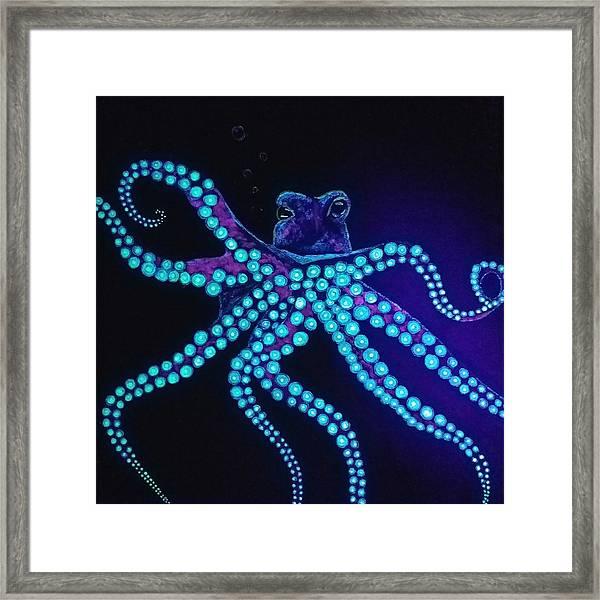 Purple Octopus  Framed Print