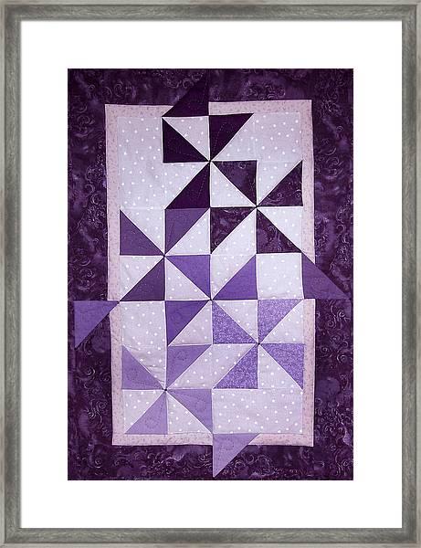 Purple Pinwheels Pirouetting Framed Print