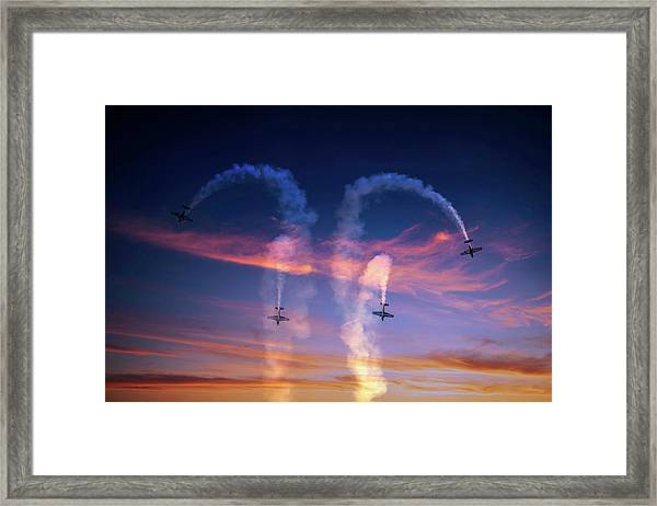 Putting On A Show Framed Print