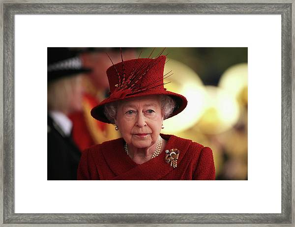 Qatar State Visit To The Uk Framed Print by Dan Kitwood