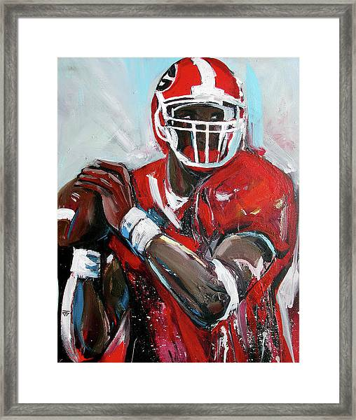 Quarterback Framed Print