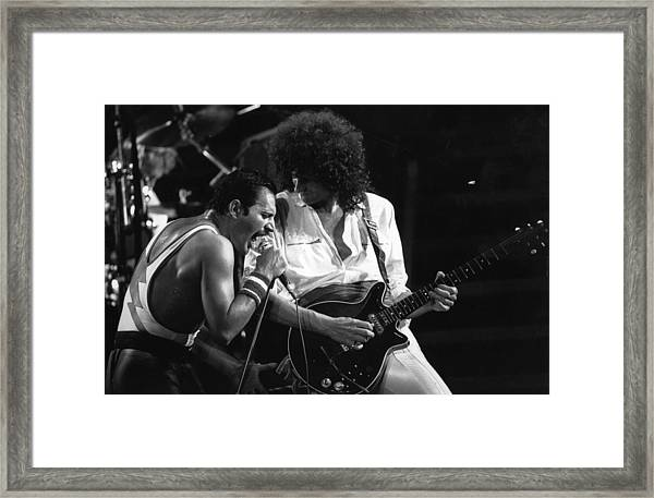 Queen Concert Framed Print by Rogers