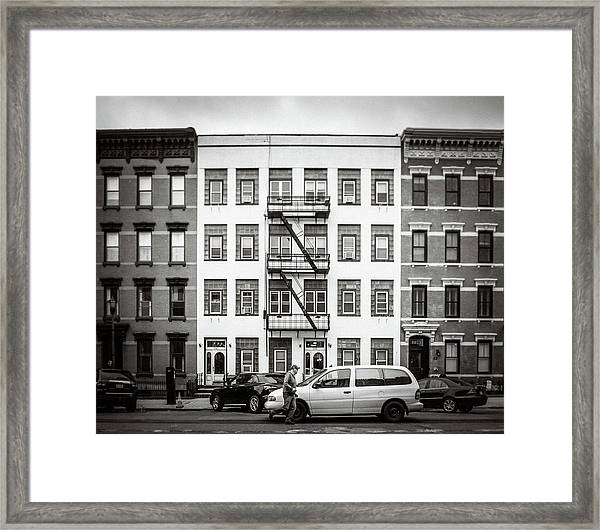 Framed Print featuring the photograph quick delivery BW by Steve Stanger