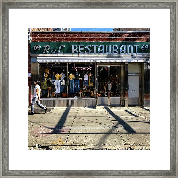 R And L Restaurant Framed Print