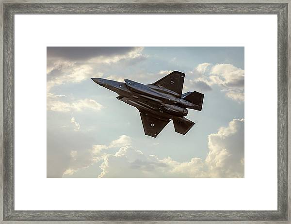 Framed Print featuring the photograph Raaf F-35a Lightning II Joint Strike Fighter by Chris Cousins