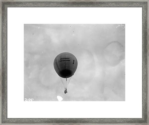 Racing Balloon Framed Print by Fox Photos