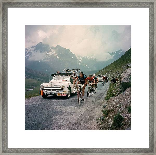 Racing Cyclists Of The Tour De France Framed Print by Keystone-france